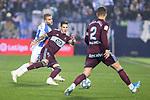 CD Leganes's  Kevin Rodrigues (L) and RC Celta de Vigo's Santi Mina and Hugo Mallo during La Liga match 2019/2020 round 16<br /> December 8, 2019. <br /> (ALTERPHOTOS/David Jar)