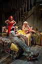 "London, UK. 06.01.2016. Grey Gardens, produced by Danielle Tarento and directed by Thom Southerland, the award-winning team behind Grand Hotel, Titanic, Parade and Mack & Mabel, will open for a 6-week season in The Large at Southwark Playhouse on Saturday 2 January and runs to Saturday 6 February. Picture shows: Jenna Russell (""Little) Edie Beale), Aaron Sidwell (Jerry), Sheila Hancock (Edith Bouvier Beale). Photograph © Jane Hobson."