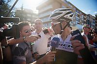 Markel Irizar (ESP/Trek Factory Racing) interviewed post-race after his 4th day in the breakaway<br /> <br /> stage 19: Medina del Campo - Avila (186km)<br /> 2015 Vuelta à Espana
