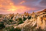 """Peri Bacalari or """"Fairy Chimneys"""" rock formations, Cappadocia, Turkey"""