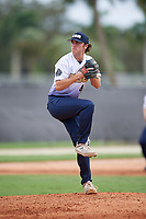 Jake Blawn (44) during the WWBA World Championship at the Roger Dean Complex on October 11, 2019 in Jupiter, Florida.  Jake Blawn attends Santiago High School in Corona, CA and is committed to Long Beach State.  (Mike Janes/Four Seam Images)