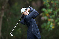 CHAPEL HILL, NC - OCTOBER 13: Nicole Lu of the University of North Carolina tees off at UNC Finley Golf Course on October 13, 2019 in Chapel Hill, North Carolina.
