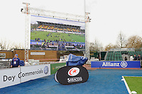 20130216 Copyright onEdition 2013©.Free for editorial use image, please credit: onEdition..General view of the large screen during the Premiership Rugby match between Saracens and Exeter Chiefs at Allianz Park on Saturday 16th February 2013 (Photo by Rob Munro)..For press contacts contact: Sam Feasey at brandRapport on M: +44 (0)7717 757114 E: SFeasey@brand-rapport.com..If you require a higher resolution image or you have any other onEdition photographic enquiries, please contact onEdition on 0845 900 2 900 or email info@onEdition.com.This image is copyright onEdition 2013©..This image has been supplied by onEdition and must be credited onEdition. The author is asserting his full Moral rights in relation to the publication of this image. Rights for onward transmission of any image or file is not granted or implied. Changing or deleting Copyright information is illegal as specified in the Copyright, Design and Patents Act 1988. If you are in any way unsure of your right to publish this image please contact onEdition on 0845 900 2 900 or email info@onEdition.com