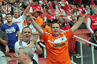 Pictured: Swansea supporters. Saturday 10 September 2011<br />
