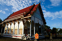 Buddhist temple in Takua Pa town, Thailand, Asia.