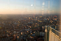 milano, panorama dal grattacielo nuova sede della regione lombardia --- milan, panorama from the new skyscraper headquarter of Lombardy Region authority