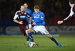 St Johnstone v Hearts.....18.01.14   SPFL<br /> David Wotherspoon and Jamie Hamill<br /> Picture by Graeme Hart.<br /> Copyright Perthshire Picture Agency<br /> Tel: 01738 623350  Mobile: 07990 594431