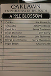 April 10, 2015: Apple Blossom Handicap lineup at Oaklawn Park in Hot Springs, AR. Justin Manning/ESW/CSM