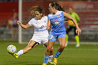 Chicago, IL - Wednesday Sept. 07, 2016: Lo'eau LaBonta, Amanda Da Costa during a regular season National Women's Soccer League (NWSL) match between the Chicago Red Stars and FC Kansas City at Toyota Park.