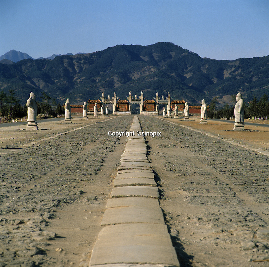 The Eastern Tombs, or Dongling, of the Qing dynasty are located in Zunhua County in Hebei Province. They rest in the Malan Valley of the Changrui Mountains, some 125 kilometers from Beijing. The fifteen tombs located here include those of certain Qing emperors who reigned from 1644 onwards, including the tomb of the great Kangxi emperor. The tomb of the famous Cixi Dowager Empress is also located here.