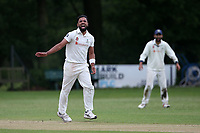 Z Shahzad of Wanstead appeals for a wicket during Wanstead and Snaresbrook CC (fielding) vs Brentwood CC, Hamro Foundation Essex League Cricket at Overton Drive on 19th June 2021