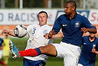 Soccer, UEFA U-17.France Vs. England.Bradley Smith, left and Sebastien Haller.Indjija, 03.05.2011..foto: Srdjan Stevanovic