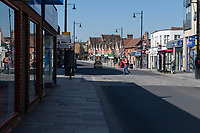 Police drive through the High Street in Sidcup, Kent during the Coronavirus (COVID-19) outbreak where travel has been restricted across the country at Sidcup, England on 25 March 2020. Photo by Alan Stanford/PRiME Media Images