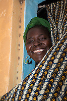 Smiling Senegalese Woman, Nixo Village, near Sokone, Senegal.  She is of the Serer ethnic group.