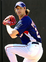 18 March 2007: Washington Nationals pitcher John Patterson warms up prior to facing the Florida Marlins at Space Coast Stadium in Viera, Florida...Mandatory Photo Credit: Ed Wolfstein Photo