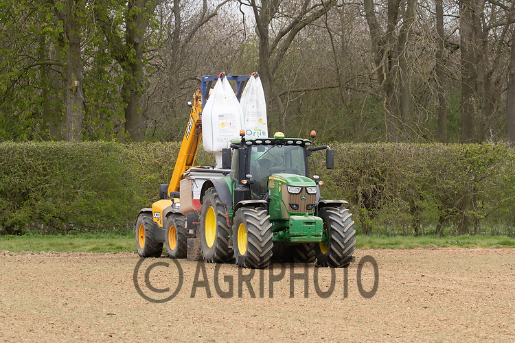 27-4-2021 Applying nitrogen to Spring Barley <br /> ©Tim Scrivener Photographer 07850 303986<br />      ....Covering Agriculture In The UK....