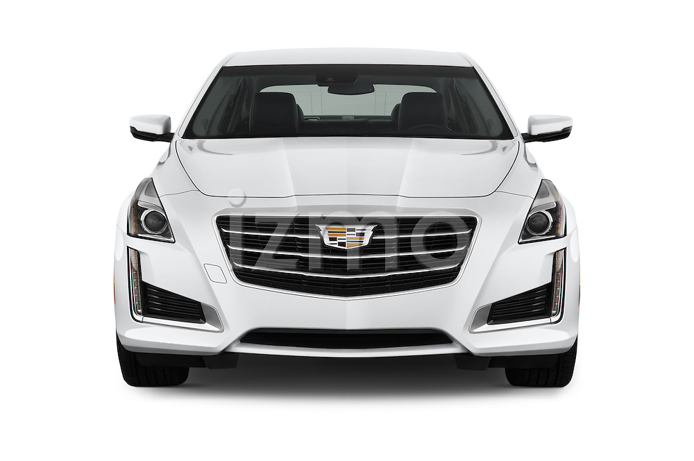Car photography straight front view of a 2016 Cadillac CTS Luxury Collection 4 Door sedan Front View