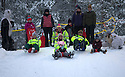 03/12/15<br /> <br /> Paramedics from the East Midland sledging with the children.<br /> <br /> Sick children are flown from East Midlands Airport to visit Santa and spend the day in Lapland. When You Wish Upon A Star have been arranging these festive flights for 24 years.<br />  <br /> All Rights Reserved: F Stop Press Ltd. +44(0)1335 418365   +44 (0)7765 242650 www.fstoppress.com