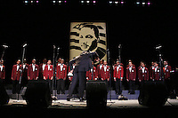 A boys choir sings in tribute to Dr. Martin Luther King, Jr. at the Brooklyn Academy of Music for MLK Day on January 19, 2004.