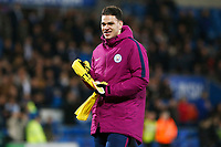 Ederson of Manchester City after the final whistle of the Fly Emirates FA Cup Fourth Round match between Cardiff City and Manchester City at the Cardiff City Stadium, Wales, UK. Sunday 28 January 2018
