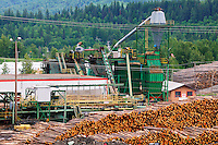 Lumber industry in Quesnel, British Columbia, Canada.