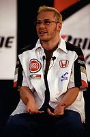 FILE PHOTO - Jacques Villeneuve<br />  news conference, June 12, 2003<br /> <br /> <br /> PHOTO : Agence quebec Presse