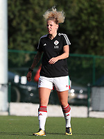 OHL's Tine Schrijvers (23) pictured during the warm up before a female soccer game between Oud Heverlee Leuven and Eendracht Aalst Ladies  on the third matchday of the 2020 - 2021 season of Belgian Womens Super League , Sunday 4 th of October 2020  in Heverlee , Belgium . PHOTO SPORTPIX.BE | SPP | SEVIL OKTEM