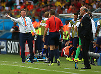 Netherlands manager Louis Van Gaal gestures on the touchline