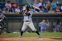 Hudson Valley Renegades Luis Trevino (17) at bat during a NY-Penn League game against the Mahoning Valley Scrappers on July 15, 2019 at Eastwood Field in Niles, Ohio.  Mahoning Valley defeated Hudson Valley 6-5.  (Mike Janes/Four Seam Images)