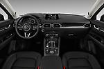 Stock photo of straight dashboard view of 2017 Mazda CX-5 Grand Touring 5 Door SUV