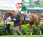 Animal Kingdom, trained by Graham Motion, winning the 137th running of the Kentucky Derby at Churchill Downs in Louisville, Kentucky on May 7, 2011.