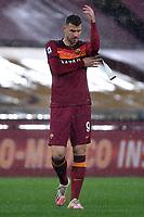 Edin Dzeko of AS Roma fixes the captain's armband during the Serie A football match between AS Roma and UC Sampdoria at Olimpico stadium in Roma (Italy), January 3rd, 2021. Photo Andrea Staccioli / Insidefoto