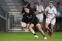 22nd May 2021; Eden Park, Auckland New Zealand;  Portia Woodman along the wing to score her try. Black Ferns Womens Sevens versus Australia Women, Trans-Tasman Sevens at Eden Park, Auckland.