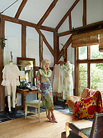 A portrait of designer Lorry Newhouse in her studio.