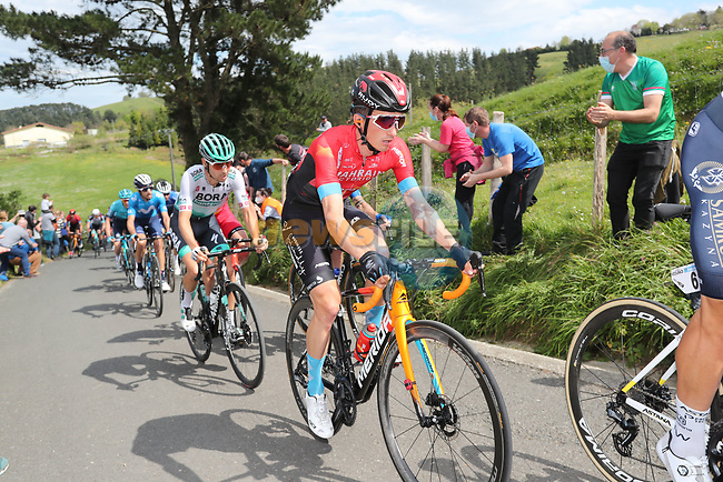 Mark Padun (UKR) Bahrain Victorious during Stage 6 of the Itzulia Basque Country 2021, running 111.9km from Ondarroa to Arrate, Spain. 10th April 2021.  <br /> Picture: Luis Angel Gomez/Photogomezsport | Cyclefile<br /> <br /> All photos usage must carry mandatory copyright credit (© Cyclefile | Luis Angel Gomez/Photogomezsport)