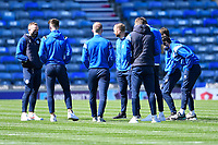 Rochdale players inspect the pitch during Portsmouth vs Rochdale, Sky Bet EFL League 1 Football at Fratton Park on 2nd April 2021