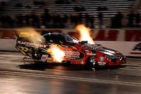 """Jan 20, 2007; Las Vegas, NV, USA; NHRA Funny Car driver Gary Densham during preseason testing at """"The Strip"""" at Las Vegas Motor Speedway in Las Vegas, NV. Mandatory Credit: Mark J. Rebilas"""