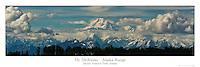 12x36 inch poster of Mt. McKinley (Denali) rising above the Alaska Range.