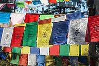 Bumthang, Bhutan.  Prayer Flags at Kikila Pass, near Jakar.