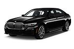 2020 BMW 7 Series M Sport 4 Door Sedan angular front stock photos of front three quarter view