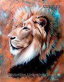 Sandi, REALISTIC ANIMALS, REALISTISCHE TIERE, ANIMALES REALISTICOS, paintings+++++copperkinglion(1),USSN23,#a#, EVERYDAY ,lion ,puzzles