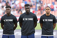 SANDY, UT - JUNE 10: Yunus Musah, Daryl Dike, Reggie Cannon of the United States during a game between Costa Rica and USMNT at Rio Tinto Stadium on June 10, 2021 in Sandy, Utah.