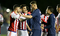 Cary, N.C. - Tuesday March 27, 2018: Bruno Valdéz, Matt Miazga during an International friendly game between the men's national teams of the United States (USA) and Paraguay (PAR) at Sahlen's Stadium at WakeMed Soccer Park.
