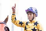 Jockey Vincent Ho Chak-yiu riding #8 Dragon Pioneer celebrates after winning race 8 during Hong Kong Racing at Happy Valley Racecourse on October 28, 2018 in Hong Kong, Hong Kong. Photo by Yu Chun Christopher Wong / Power Sport Images