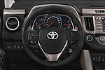 Car pictures of steering wheel view of a 2015 Toyota RAVA4 Lounge 5 Door SUV