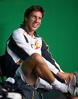 15-9-09, Netherlands,  Maastricht, Tennis, Daviscup Netherlands-France, Training, Igor Sijsling