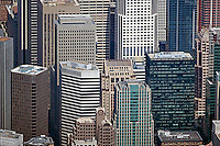 aerial photograph 55 Second Street, 595 Market Street, Chevron Tower, 33 New Montgomery Street skyscrapers San Francisco