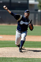 Pedro Lambertus - Milwaukee Brewers - 2009 spring training.Photo by:  Bill Mitchell/Four Seam Images