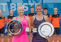 Amstelveen, Netherlands, 10 Juli, 2021, National Tennis Center, NTC, Amstelveen Womans Open, Singles final:  Ltr: , runner up Yana Mordeger (GER),  and winner Quirine Lemoine (NED) <br /> Photo: Henk Koster/tennisimages.com