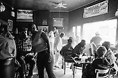 New Orleans, Louisiana<br /> February 26, 2006<br /> <br /> Crowds come to watch Kermit Ruffin performs at Nick's Next Stop Lounge in the 7th ward.